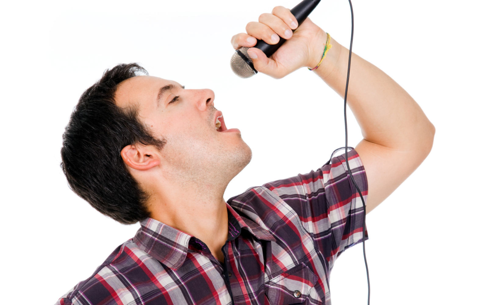 Man Singing In Microphone1